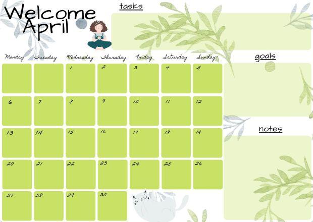 planner aprile