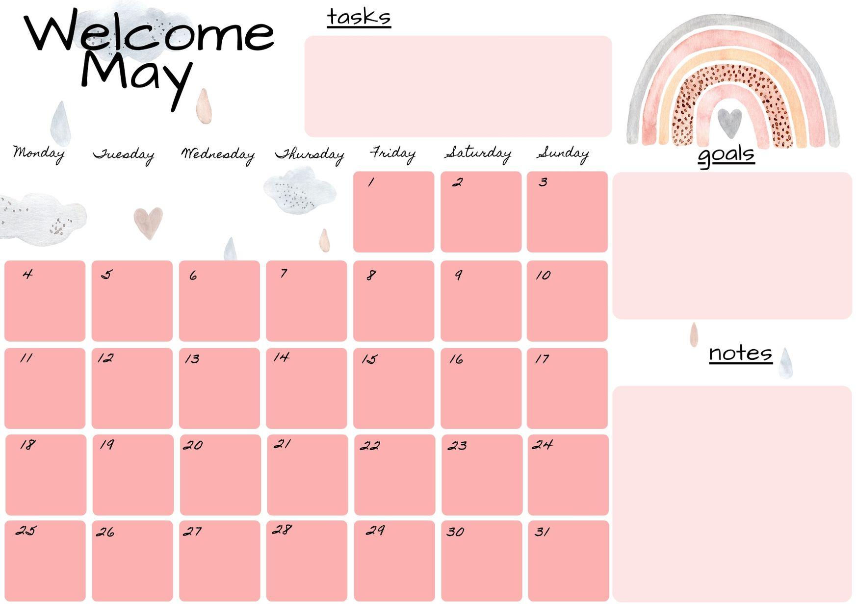 planner maggio