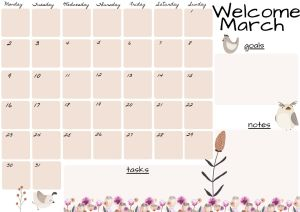 planner Marzo