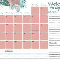 Planner Agosto