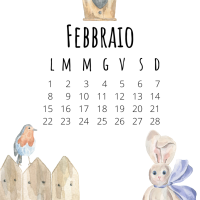 CALENDARIO MENSILE - febbraio 2021